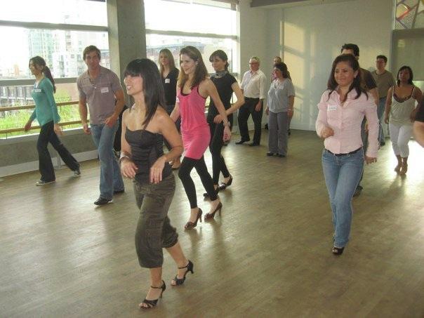 Jessica leading class
